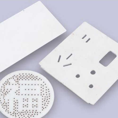 光纤激光切割机切割铝材薄板样品展示
