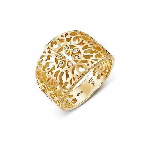 黄金行业激光切割机切割镂空戒指样品展示