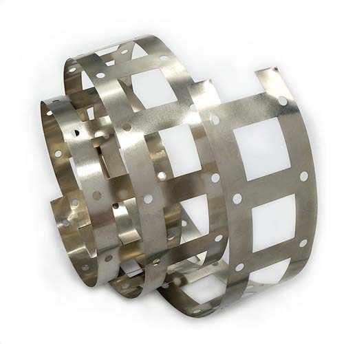 新能源激光切割机切割镍钢带样品展示