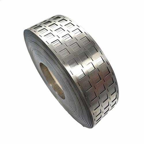 新能源激光切割机切割合金钢带样品展示