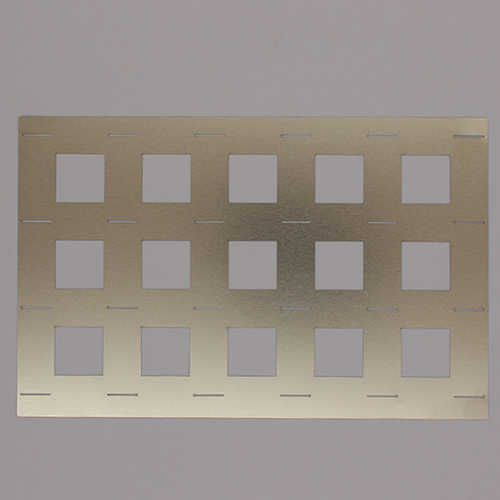 新能源激光切割机切割镍片样品展示