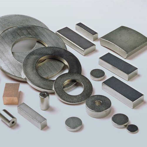 钕铁硼激光切割机切割钕铁硼磁铁样品展示